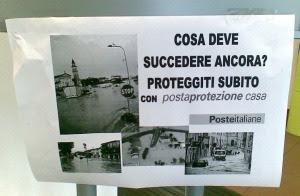 Padova, le Poste usano lalluvione per pubblicità: è polemica