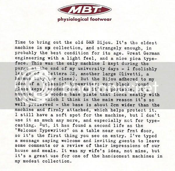 Bijou typewriter typecast - Rino Breebaart