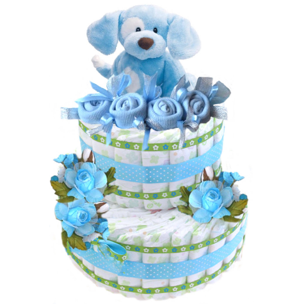 Baby Boy Diapers Cake For Baby Shower Or Birthday