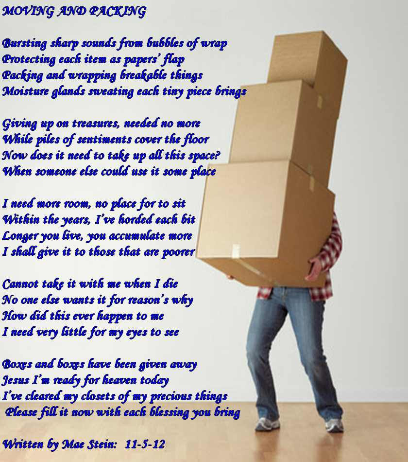 Moving And Packing All Types Of Poetry