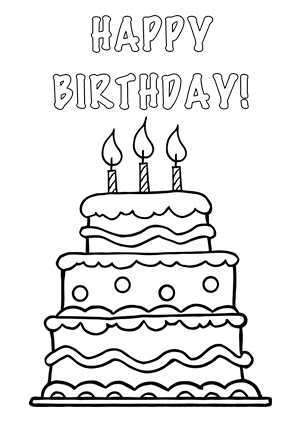 Birthday Cake Coloring Drawing And Painting For Kids Learn Colors