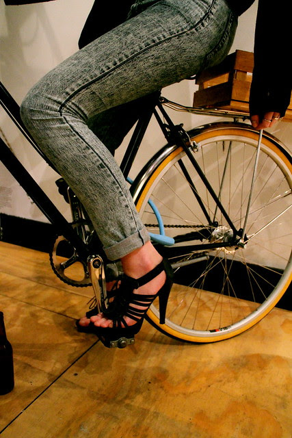 some bicycle shoes 7793