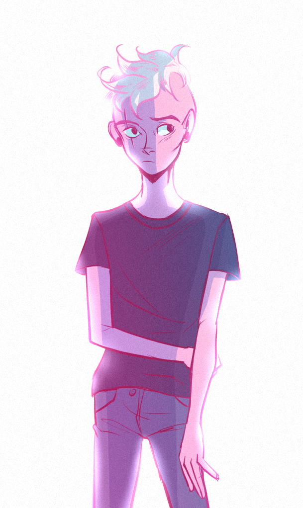 a fast messy zomboy fanart this show gets pinkier and pinkier~