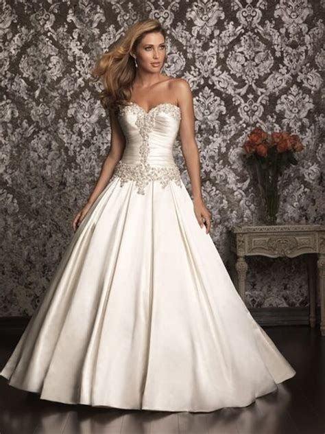 allure bridal satin ball gown wedding dress ebay