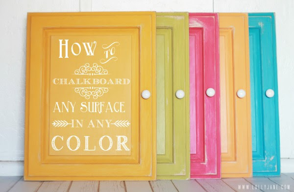 How to chalkboard any surface in any color #chalkboard #diy