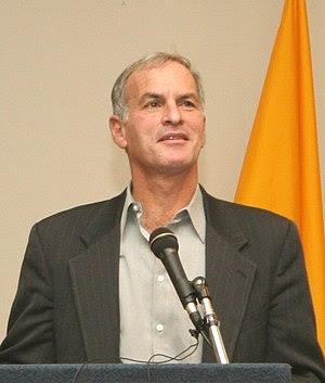 Norman Finkelstein giving a talk at Suffolk Un...