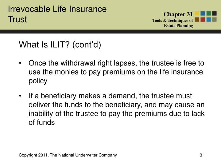 PPT - What Is An Irrevocable Life Insurance Trust (ILIT ...