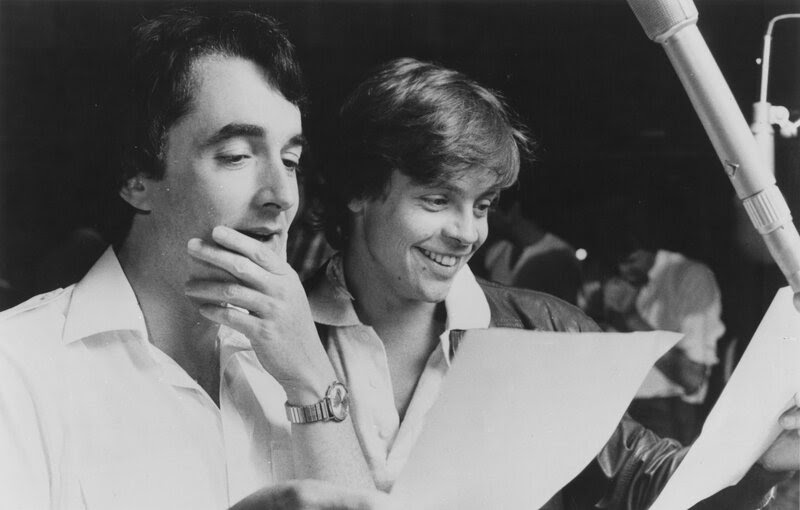 Mark Hamill (right) and Anthony Daniels reprise their roles of Luke Skywalker and C-3PO in the radio adaptation of Star Wars.