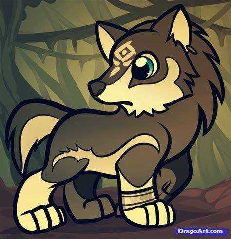 draw chibi wolf link wolf link  legend