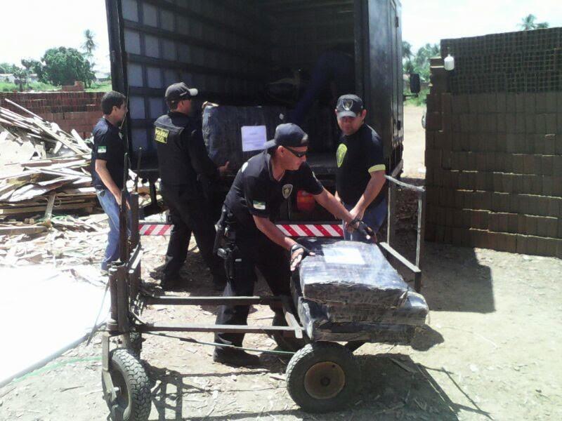 Policiais inceneraram 3 toneladas de drogas no RN nesta sexta (28) (Foto: Divulgação/Polícia Civil)
