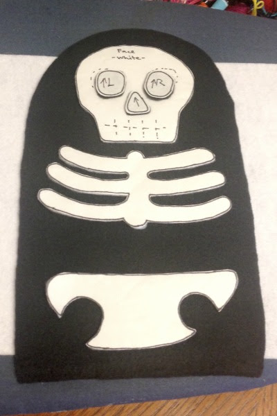 Skeleton Blankie Buddy - Pieces - Felt With Love Designs