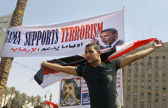 PA 16946353 Egypt deposes the Muslim Brotherhood: the best Anti Obama banners