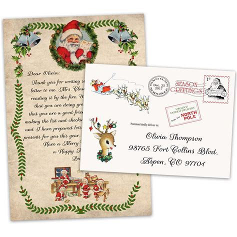 Christmas letter from Santa Claus to Child