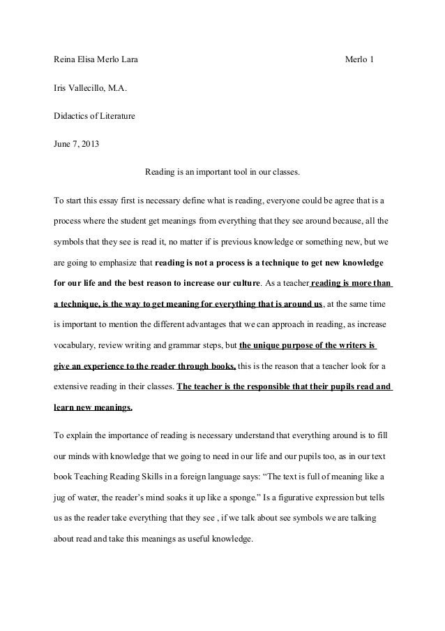 Why is reading and writing important in our lives essay
