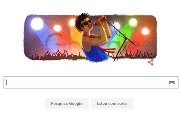 Google cria doodle para homenagear aniversário de Cazuza. (Foto: Reprodução/Google)