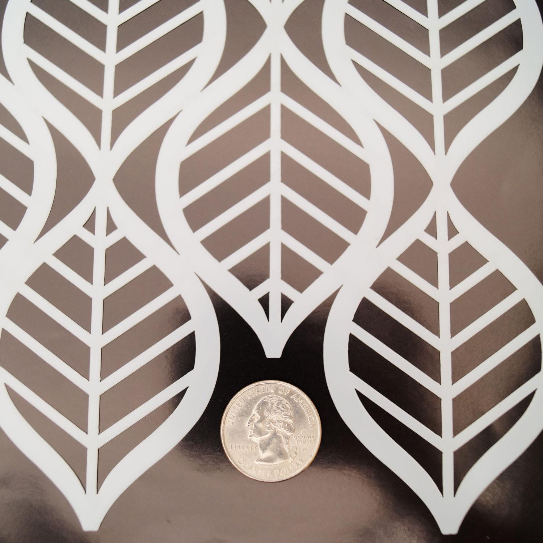 Art Deco Leaves Pattern Stencil   Glass Delphi Glass