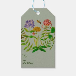 Botanical Illustration on Gift Tags Pack Of Gift Tags