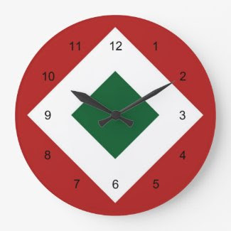 Christmas Diamond Pattern Clock
