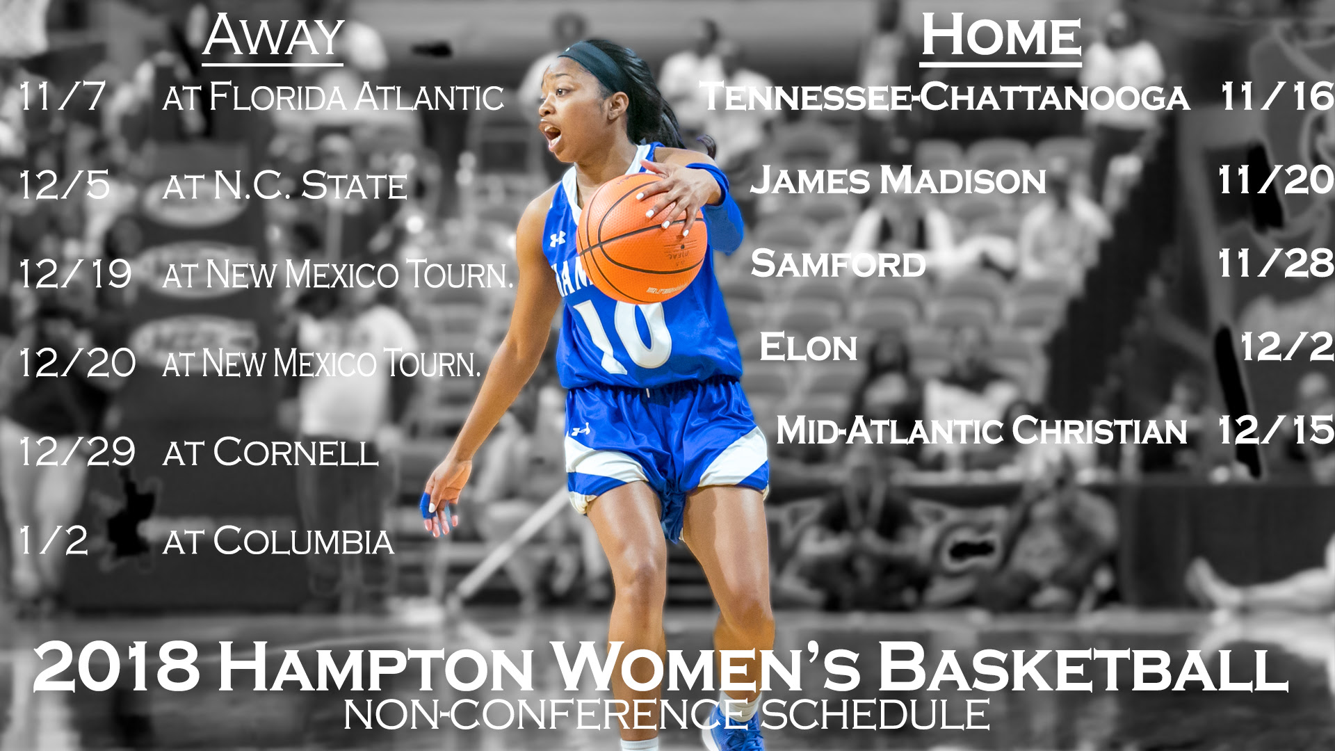 MEAC/SWAC SPORTS MAIN STREET™: Hampton Athletics Release Women's Basketball 2018-19 Non ...