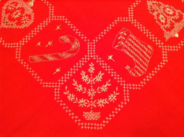 Tablecloth closeup