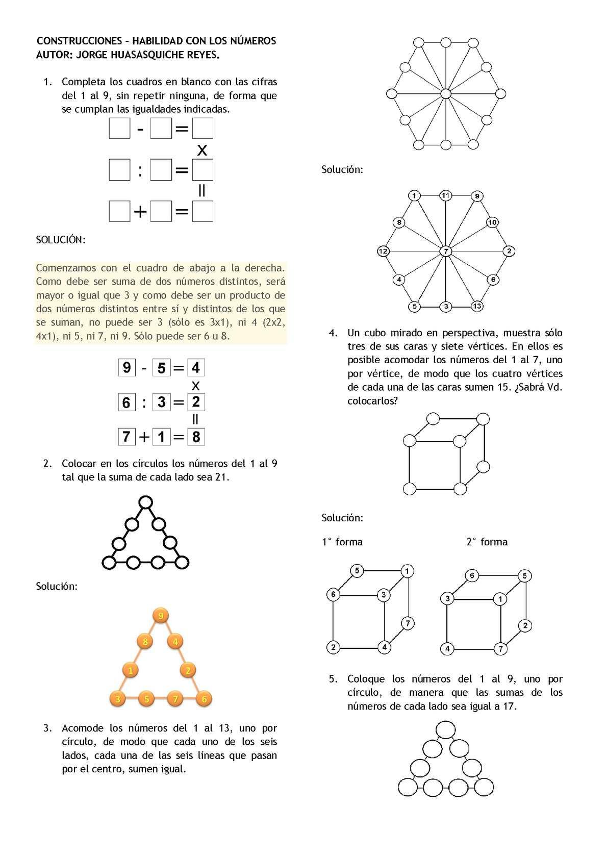 Calaméo Construcciones Habilidad Con Los Números