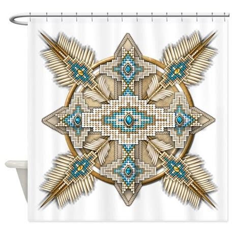 Native American Style Mandala 29 Shower Curtain by