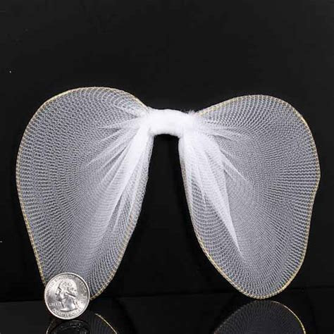 White Nylon Angel Wings   Angel Wings   Doll Making