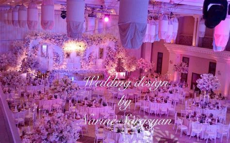 Wedding hall designed and decorated by Narine Sargsyan in