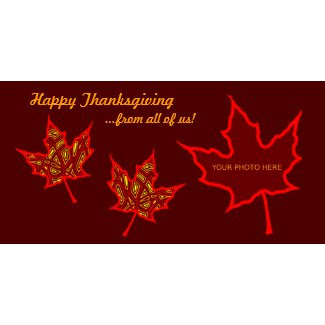 Thanksgiving Leaves photocard