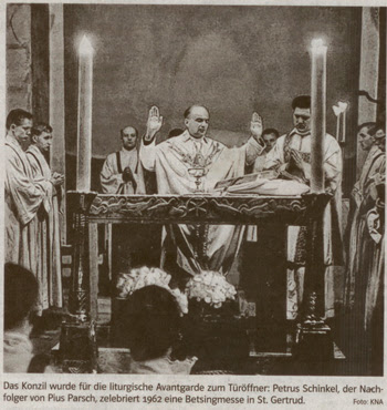 Fr. Parsch celebrating a modern mass