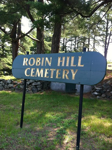 Robin Hill Cemetery Sign by midgefrazel
