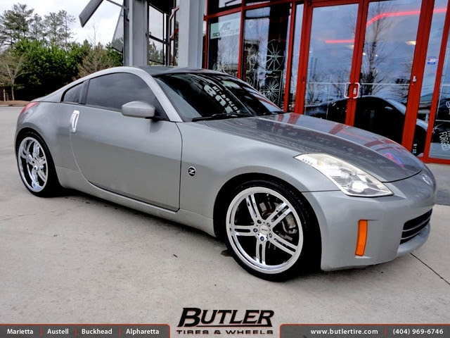 Nissan 350z With 20in Tsw Indy 500 Wheels Exclusively From Butler Tires And Wheels In Atlanta