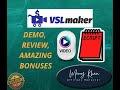 VSLmaker Demo Review | High Quality Video Scripts | Internet Marketing Tools