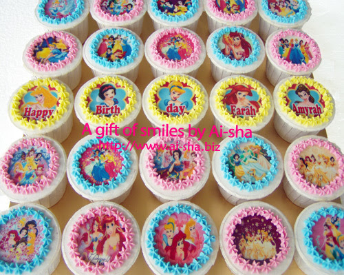 Birthday Cupcakes Edible Image Disney Princes