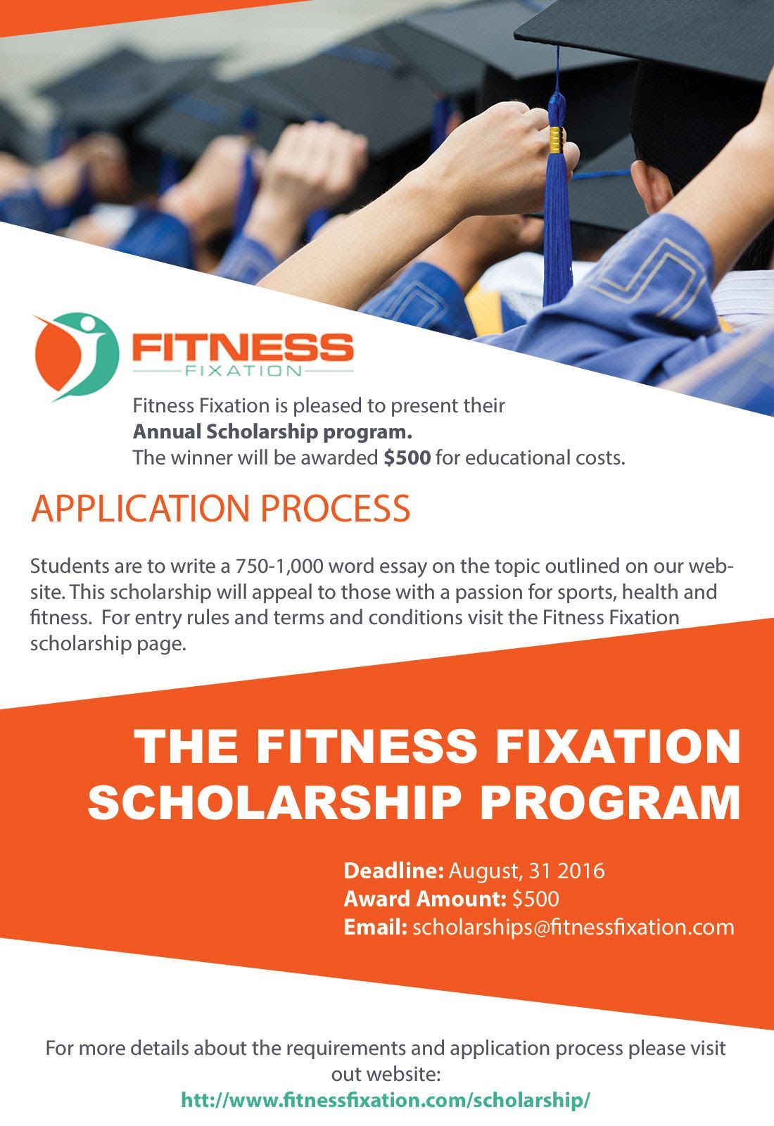 The Fitness Fixation Yearly $500 Scholarship - Fitness ...