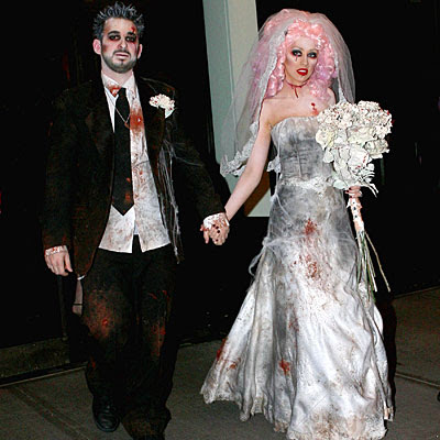 Christina Aguilera and Jordan Bratman - Stars in Halloween Costumes