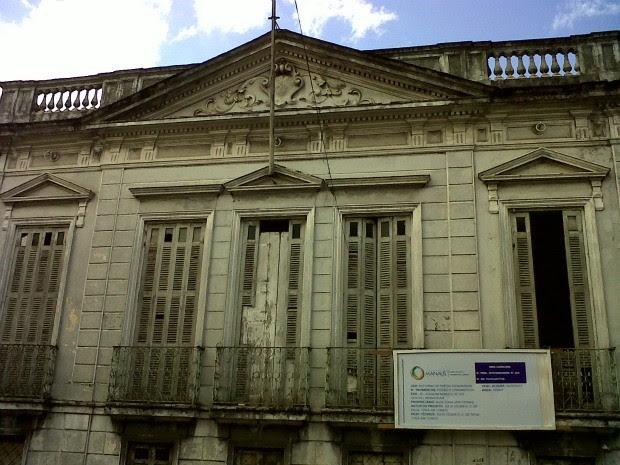 Obras no Palacete Silvério Nery foram embargadas no Centro de Manaus (Foto: Divulgação/Implurb)
