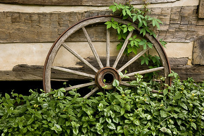 Old Wagon Wheels by Rabbit Hash Museum, Boone County, Kentucky