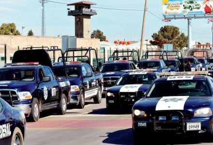 Policías federales en Goméz Palacio, Durango. Foto: Xinhua