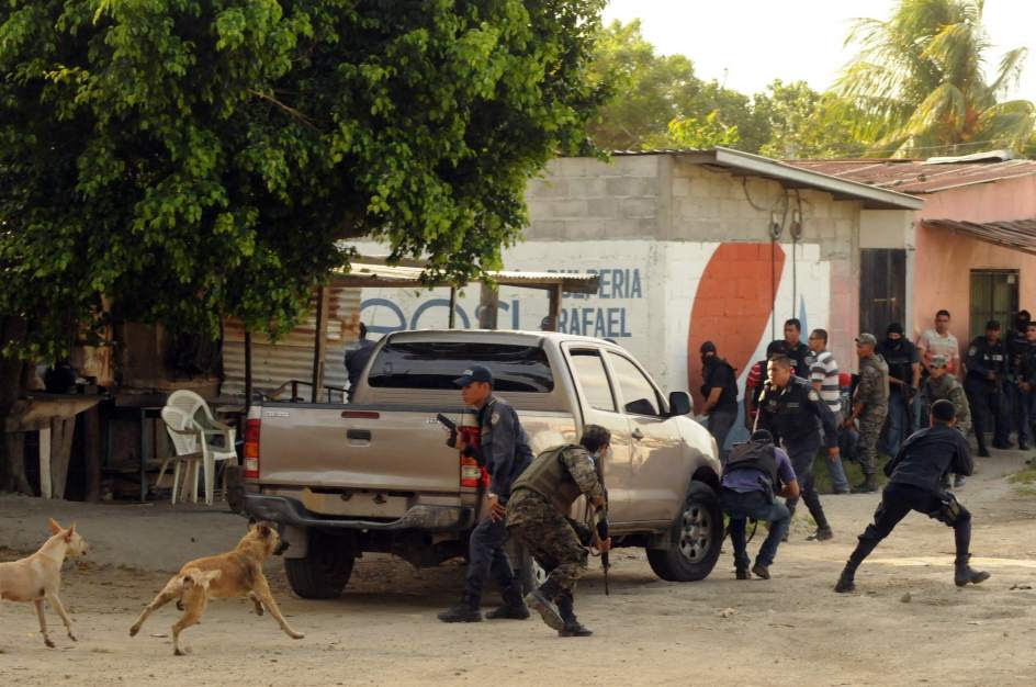 Lucha policial contra las pandillas en Honduras