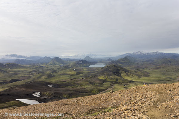 01M-0466 The Lake of Alftavatn Viewed From the Upper Slopes of Jokultungur on the Laugavegur Hiking Trail Iceland.