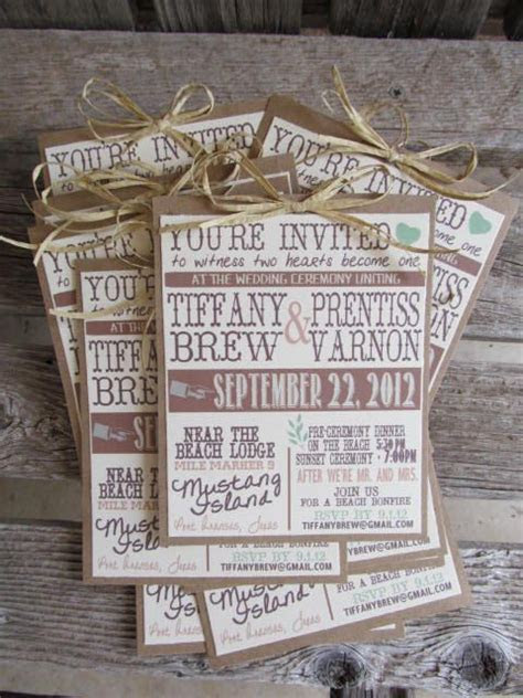 Rustic Wedding Invitations. This could be a great DIY