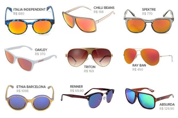MODA - Óculos espelhados (Foto: Divulgação)