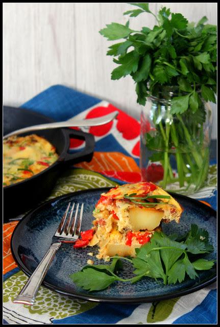 Spanish Tortilla plated