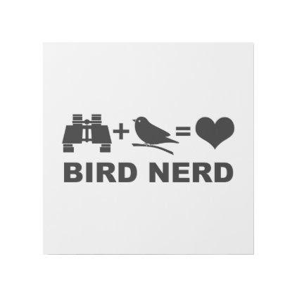 Birder Birdwatcher Funny Bird Nerd Gallery Wrap