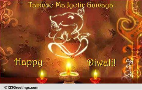Tamaso Ma Jyotir Gamaya  Free Diyas eCards, Greeting