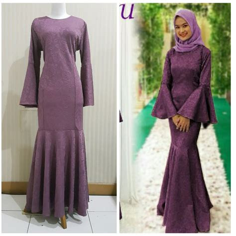 jual baju hijab pestagamis modernbaju duyung muslim