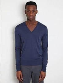 Alexander Mcqueen Men's Silk & Cashmere V-neck Sweater