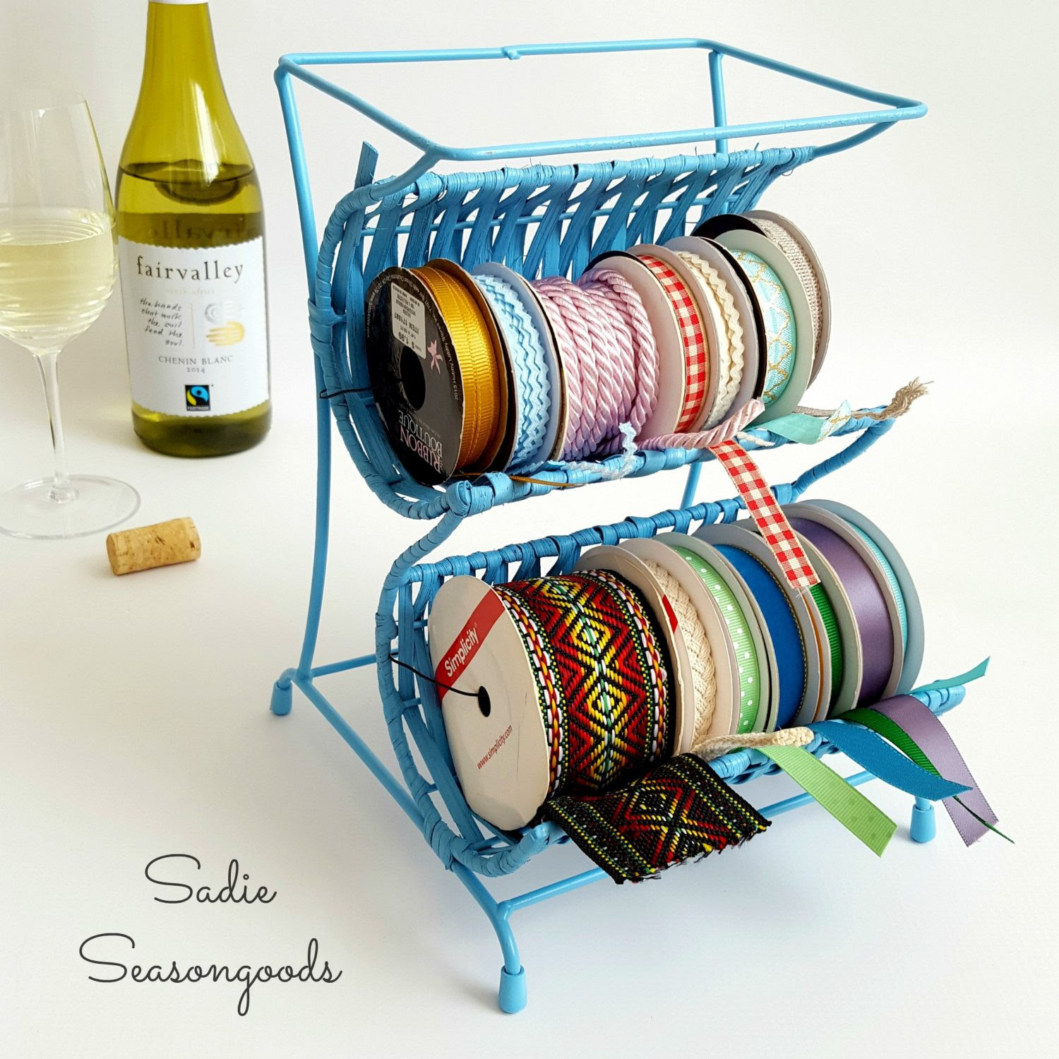 Wine Rack To Ribbon Cradle - Sadie Seasongoods - HMLP 82 - Feature