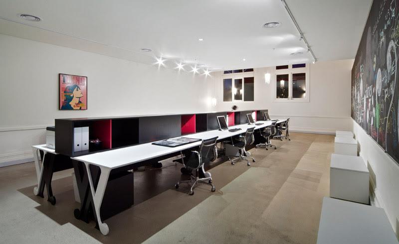 Florida interior design studio rightly illuminated with ...